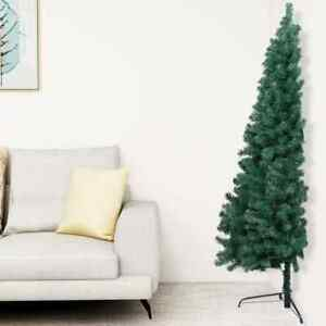 Artificial Half Christmas Tree with Stand Green 72.8quot; PVC