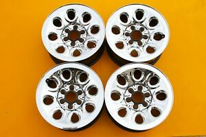 Chevy Silverado 2005 2013 Chrome 17 Oem Set Of 4 Steel 6 Lug Wheels Rims 5223