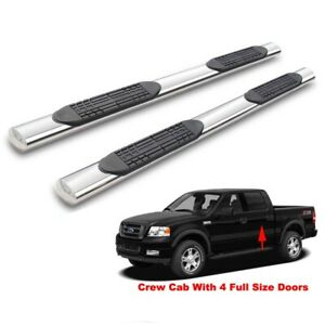 4 Running Boards For 15 18 F150 17 18 F 250 350 450 550 Crew Cab Side Nerf Bars