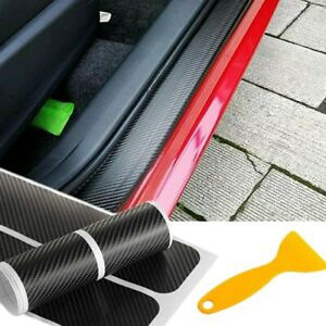 Parts Accessories 2020 Car Door Sill Protector Carbon Fiber Stickers Scraper