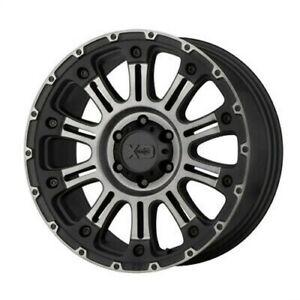 4 New 22x12 Xd Hoss 2 Satin Black Machine W Gray Tint Wheel rim 8x180 Et 44