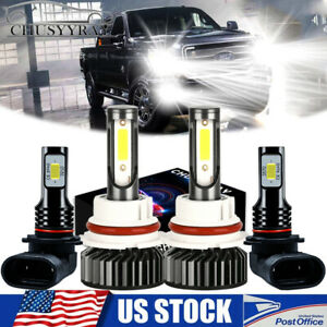 9007 9145 Led Headlight Fog Light Bulbs For Ford Expedition 1999 2000 2001 2002