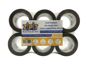 Zipit Packaging Premium Packing Tape Brown 3 Inch 110 Yards Length roll 6 Rolls