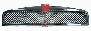 New Metal Chrome Mgb Front Grille Assembly 1963 1974 Black Mesh Made In Uk