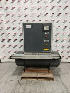 Used Atlas Copco 10 Hp Rotary Screw Air Compressor With Integrated Dryer