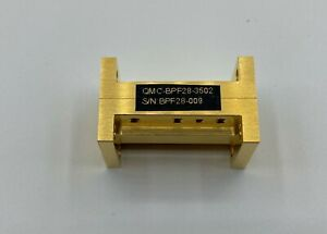 Waveguide Band Pass Filter 34 5 36 5 Ghz Wr 28 Gold Plated Housing