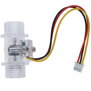 Water Flow Sensor Switch G1 2 Hall Effect Meter Control Dc 5 15v oj F1