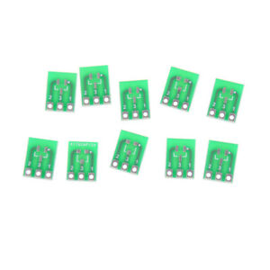 10pcs Double side Smd Sot23 3 To Dip Sip3 Adapter Pcb Board Diy Converter F1