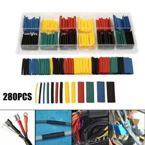 280pcs 2 1 Heat Shrink Tubing Tube Sleeve Wrap Wire Cable Insulated Assorted Set