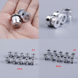 10pcs Gt2 Timing Pulley 20 Teeth Bore 5mm 8mm For Gt2 Synchronous Bef1