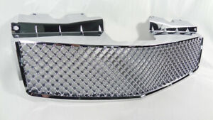 Upper Grill For 2003 2007 Cadillac Cts Luxury V Style Chrome Front Mesh Grille