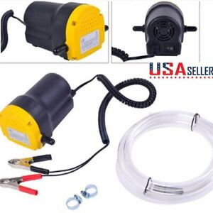Mini 12v Electric Transfer Scavenge Suction Pump Oil Gas Diesel Fuel Extractor