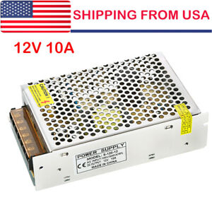 Ac 110 220v To Dc 12v 10a 120w Switch Power Supply Driver Adapter For Led Strip