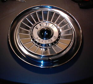 Two 1957 Ford Fairlane Hubcap Wheel Cover 14 Used Hub Cap