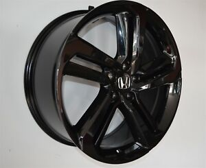 4 652 18 Inch Gloss Black Rims Fits Honda Civic Si Hatchback 2004 2005