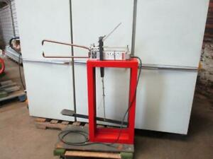 Miller Spot Welder Model Lmsw 52 On Stationary Foot Pedal Stand 220vac 1 60 Used
