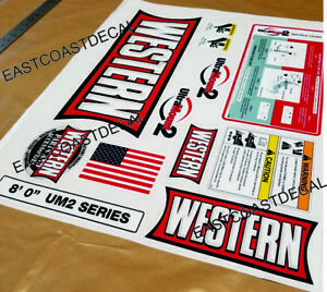 12 Western Ultramount 2 Snow Plow Decal Replacement Blade Kit 12 Piece Wk ult 2