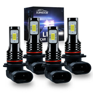 Combo 9005 9006 Led Headlight Bulb 6500k Light High Low Beam 16000lm White
