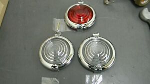 Model T Ford Other Makes Speedster Chrome Side Tail Lamp Doors W Lens Pin