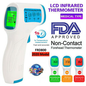 Lcd Digital Non contact Ir Infrared Thermometer Forehead Body Temperature