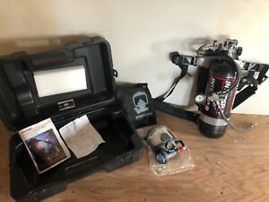 Interspiro Spiromatic Hp 4500 Scba Mask And Tank Set With Case