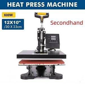Secondhand 12x10 Sublimation Transfer Printing Heat Press Machine For T shirt