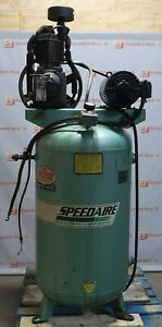 Speedaire Air Compressor 5hp 3ph 182 4t Frame 1760 Rpm 80 Gallon Tank