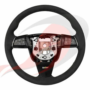2009 2015 Cadillac Cts v Gm Manual Suede Steering Wheel Gray Stitching 22982695