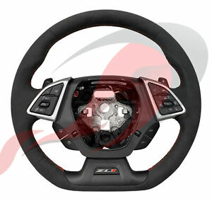 2016 2021 Camaro Gm Zl1 Heated Automatic Suede Steering Wheel Red Stitching