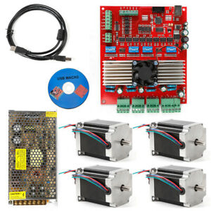 Dc 24v 200w Stepper Motor Kit Cnc 4 axis Driver Board 6leads Inputs Interface