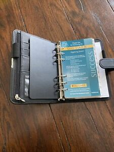 Day Runner Organizing System Planner Binder Black Faux Leather