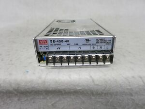 Mean Well Se 450 48 48v 9 4a 451w Single Output Ac Dc Switching Power Supply