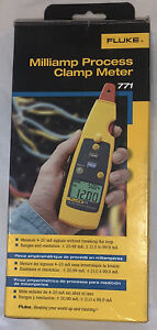 Fluke 771 Milliamp Process Clamp Meter With Case Lighty Used