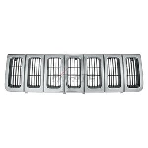 New Front Grille Fits Jeep Grand Cherokee 1996 1998 Ch1200192 191275636398
