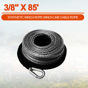 3 8 X 85 Synthetic Winch Rope Winch Line Cable Rope For Atv Utv Suv Offroad