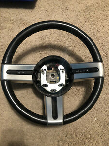 05 06 07 08 09 Ford Mustang Black Leather Steering Wheel W Cruise Controls Oem