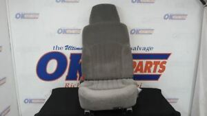 1998 Chevy S10 Driver Left Front Seat Gray Cloth Bucket Manual