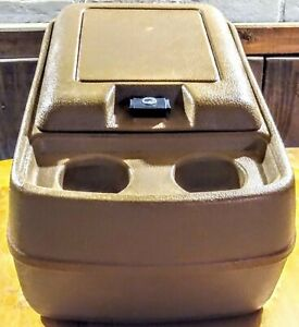 80 91 Ford Truck F100 F150 F250 F350 Bronco Tan brown Center Console Cup Holder