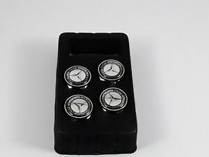 4x Metal Car Anti Theft License Plate Frame Screw Cap Covers For Mercedes Benz