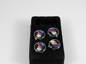 4x Metal Car Anti Theft License Plate Frame Screw Cap Covers For Bmw M