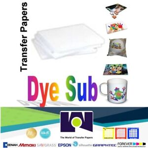 100 Sheets Dye Sublimation Heat Transfer Paper 8 5 x11 Free Delivery Made In Us