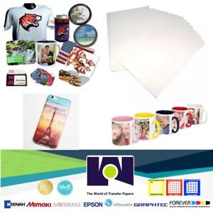 Dye Sublimation Transfer Paper Sublipaper 100 Sheets 8 5x11 Free Delivery