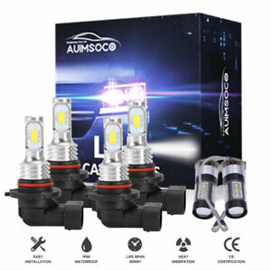 For Toyota Corolla 2001 2004 6000k Led Headlight Fog Light Bulbs Combo Hid White
