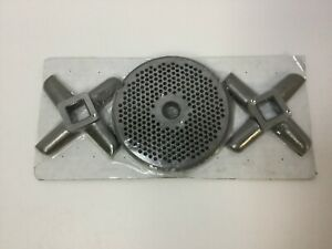 32 X 1 8 Fine Stainless Meat Grinder Plate Heavy Duty Knife 3 Piece Lot