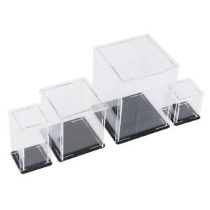 Acrylic Display Case Self assembly Clear Cube Box Uv Dustproof Toy Protect W4