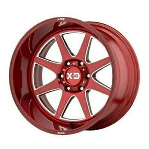 4 New 22x12 Xd Series Pike Brushed Red W Milled Accent 8x170 Xd84422287944n