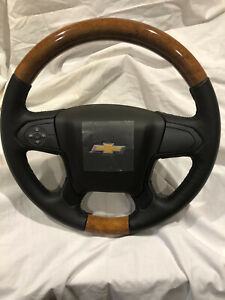 New Custom Wood Leather Chevrolet Gm Oem 14 18 Silverado Steering Wheel 23278625