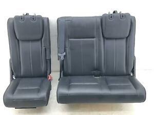 2015 2017 Ford Expedition Rear Third Row Seat Electric Black Leather Oem 2016