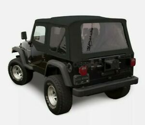 Jeep Wrangler Tj Soft Top 1997 06 Tinted Windows Upper Doors Black Sailcloth
