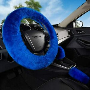 Fashion Fluffy Steering Wheel Covers Women Girls Ladies Australia Pure Wool